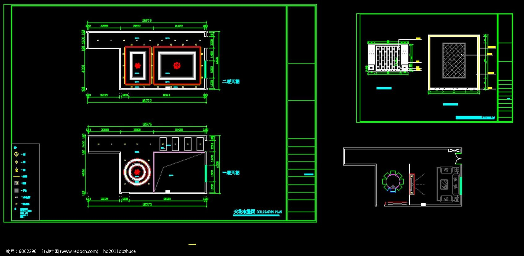 中式家庭室内装修设计CAD施工图纸素材下载 室内装修设计图片