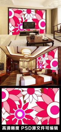 3d立体艺术感花朵花纹背景墙