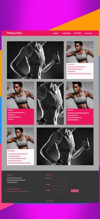 创意健身网站banner