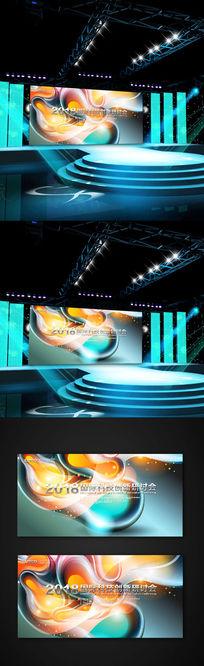 创意机器科技展板背景设计