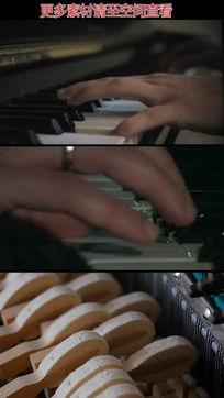 弹钢琴手指特写实拍视频素材