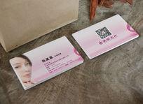 淡紫美容公司名片cdr矢量