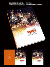 佛学佛教绽放的莲花佛文化宣传画册封面