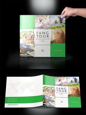 绿色时尚方块旅游画册封面