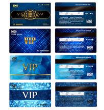 时尚蓝色VIP卡片会员卡设计