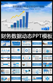 数据统计报表财务工作总结业绩ppt模板