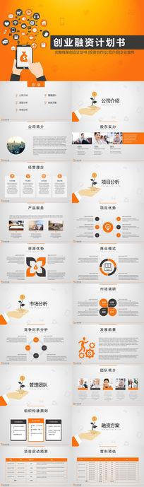完整框架创业计划书PPT模板