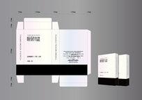 眼贴包装设计灰色盒子设计图