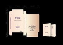 眼贴包装设计暖色盒子设计图