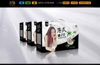 椰子汁礼品品包装箱 AI