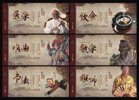 医学戏曲饮食书法服饰数学中华传统文化展板