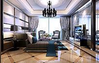 经典室内客厅整体模型