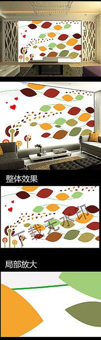 时尚抽象电视背景墙壁画