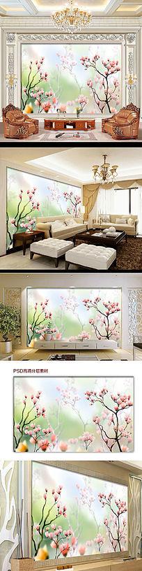 植物花卉电视背景墙