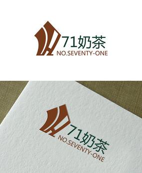 71奶茶logo