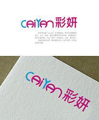 彩妍美甲logo AI