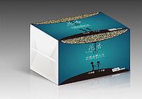 高档简约深色唯美人物纸抽盒包装