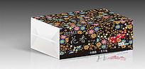 唯美碎花花卉纸抽盒包装