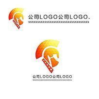广告公司骑士纹理LOGO