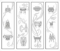 古典青铜器雕刻图