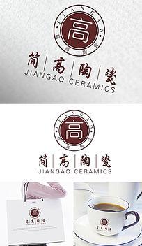 简高陶瓷公司LOGO设计 AI