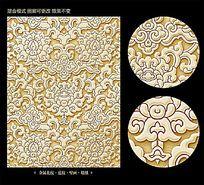 金属花朵花纹背景素材