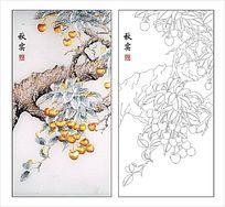 荔枝白描图