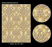欧式花纹金属浮雕背景壁纸