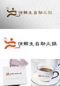 俏鲜生自助火锅logo