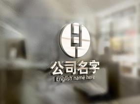 银色创意HY字母logo AI