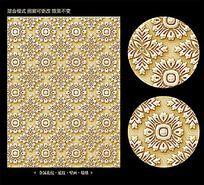 圆形欧式花纹背景素材