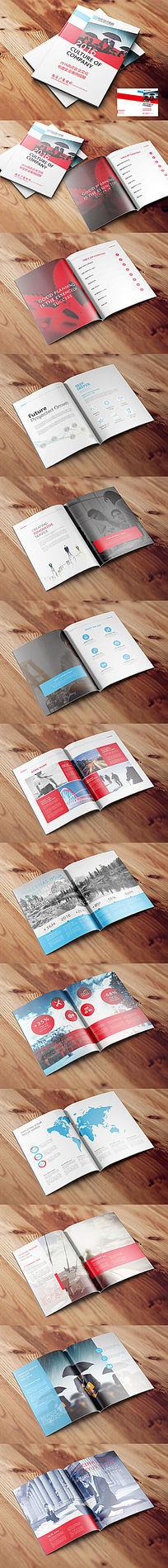 红蓝色企业画册