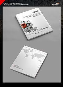 机械类简约齿轮画册封面设计