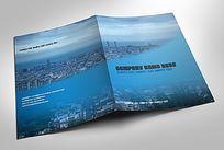 蓝色城市背景封面