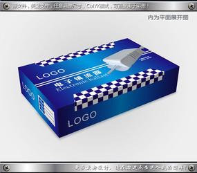 蓝色电子镇流器包装设计 CDR