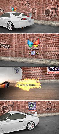 汽车点火启动微信创意小视频模板
