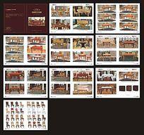 暗红色高档欧式家具桌子画册cdr