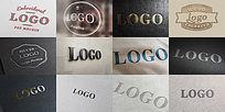 12个高大上印刷LOGO模板智能对象全可修改