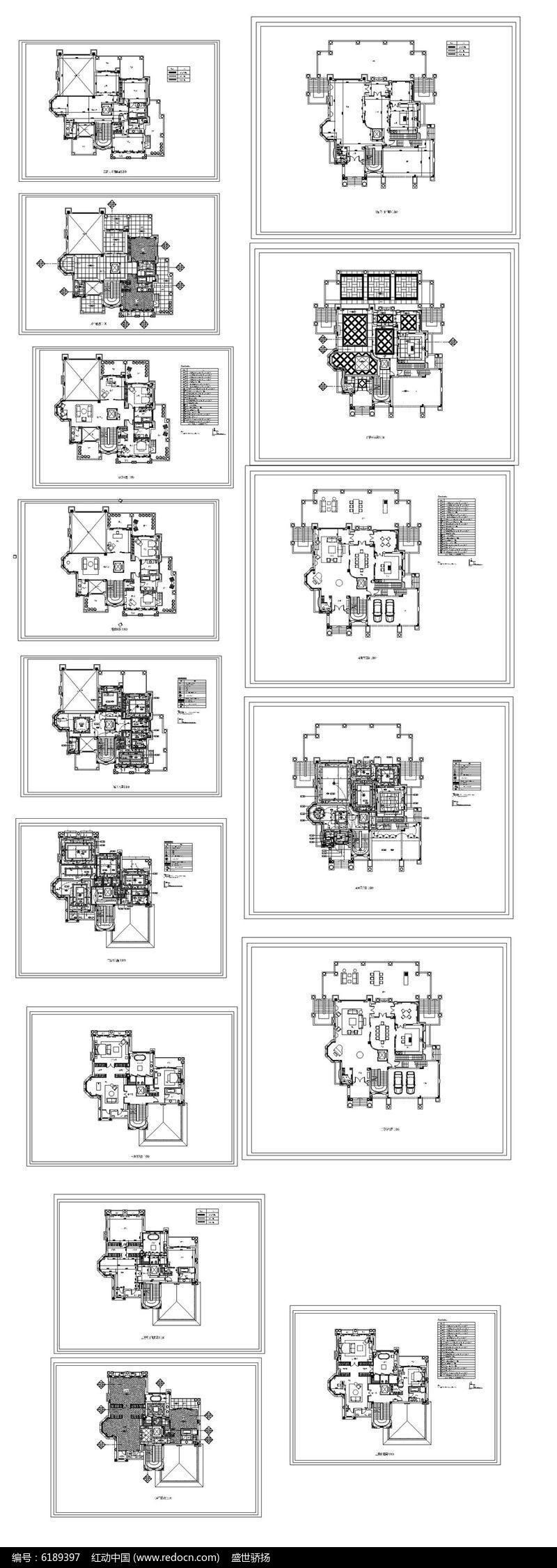 CAD家居平面图图片
