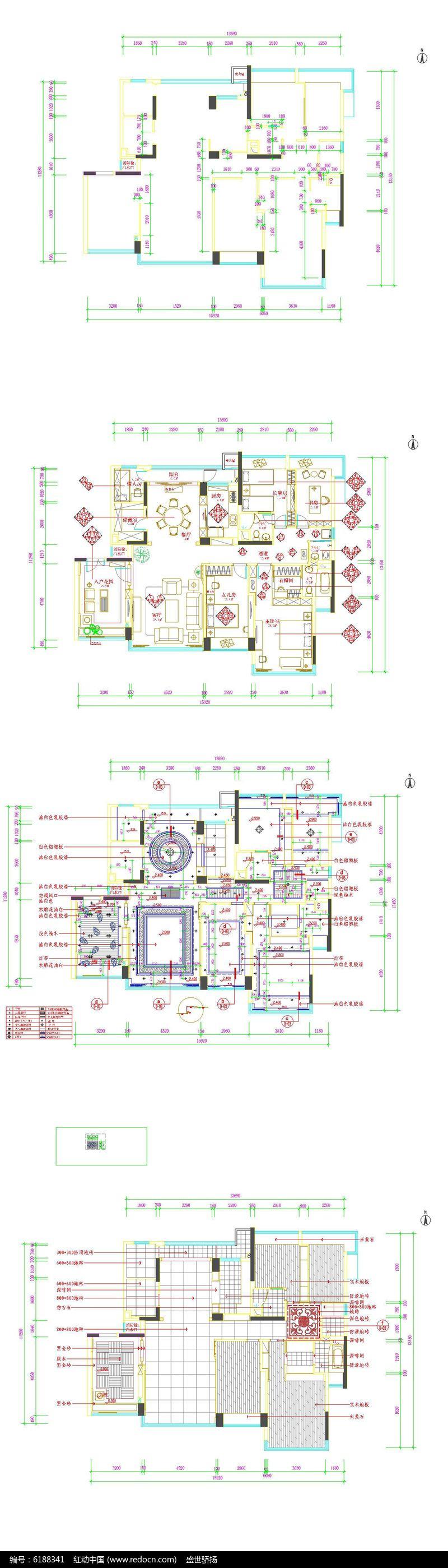 室居装饰平面图 cad户型装饰平面图