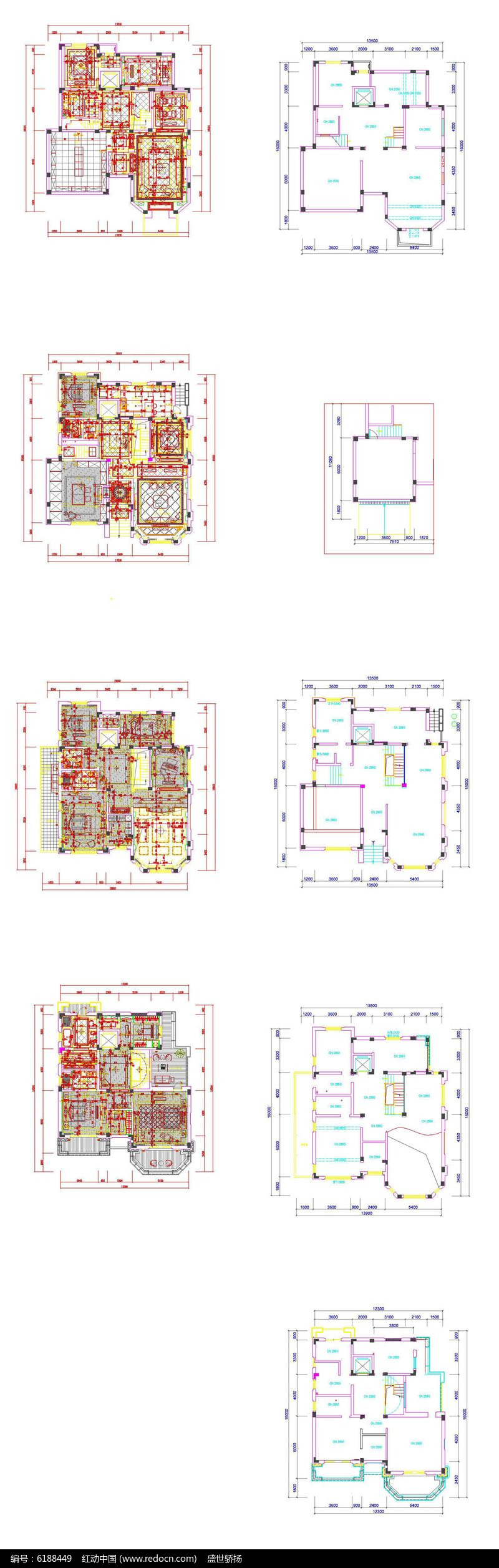别墅户型平面图图片