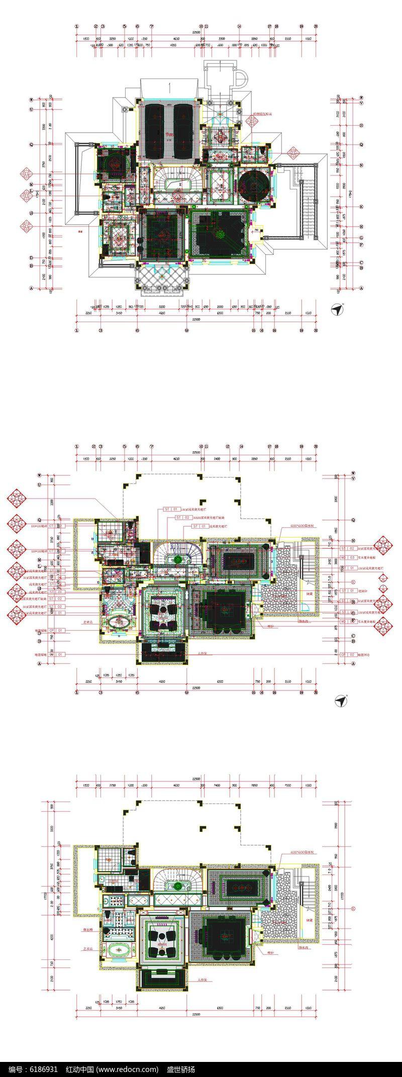 别墅家居地下室平面图