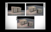 必酷贸易实体店商品矮柜3dmax模型下载