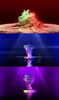 超炫粒子片头LOGO演绎表白视频