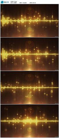 超炫音频波形随音乐波动led舞台视频