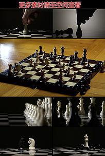 国际象棋棋子展示高清实拍视频素材