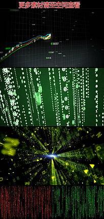 股市曲线黑客数据代码空间动态视频素材 mov