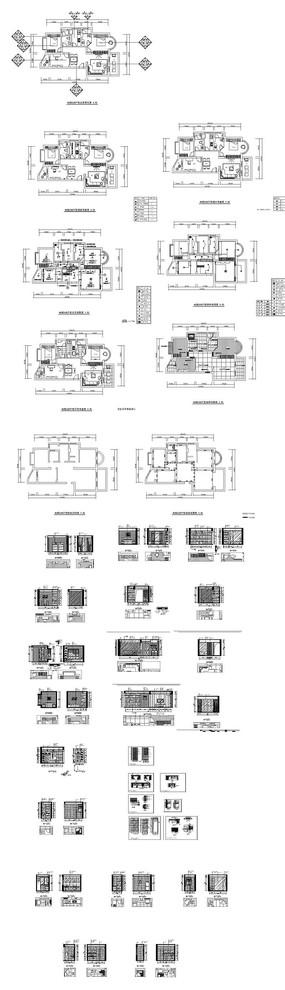 家居平面立面施工CAD图