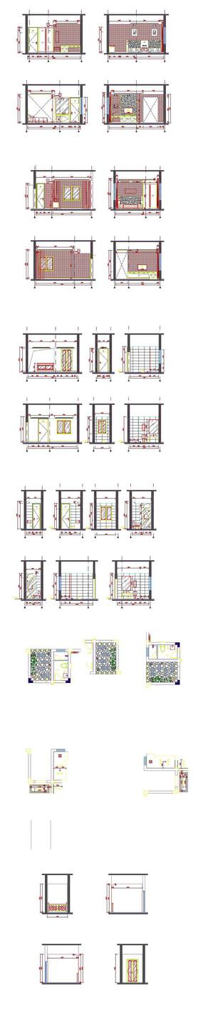 家居装饰立面CAD图