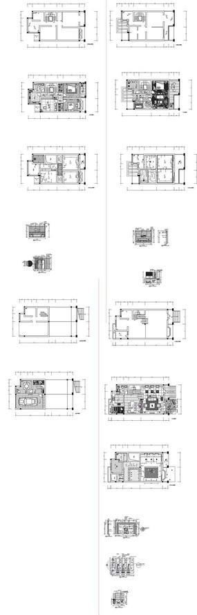 家居装饰设计CAD施工图